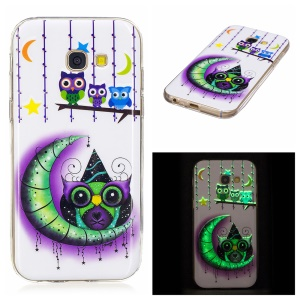Noctilucent TPU Back Case for Samsung Galaxy A5 (2017) SM-A520F - Owls, Moon and Stars