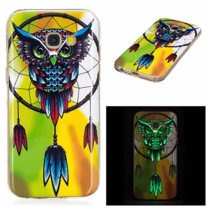 Noctilucent TPU Shell Cover for Samsung Galaxy A5 (2017) SM-A520F - Owl and Dream Catcher