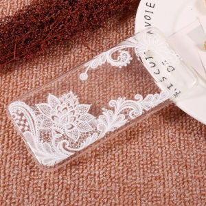 Embossing Printing TPU Case Cover for Samsung Galaxy S8 - Flowers