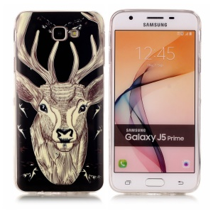 Luminous Glow Patterned TPU Phone Cover for Samsung Galaxy J5 Prime/On5 2016 - Elk