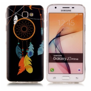 IMD TPU Noctilucent Case for Samsung Galaxy J7 Prime/On7 2016 - Feather Dreamcatcher