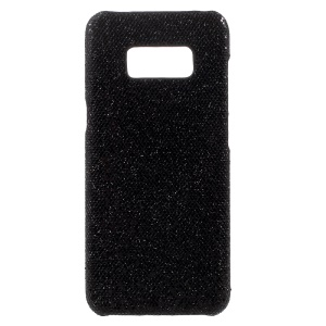 Glitter Sequins Slim PU Leather Coated PC Case Cover for Samsung Galaxy S8 -