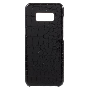 Crocodile Texture Slim PU Leather Coated PC Back Case for Samsung Galaxy S8 -
