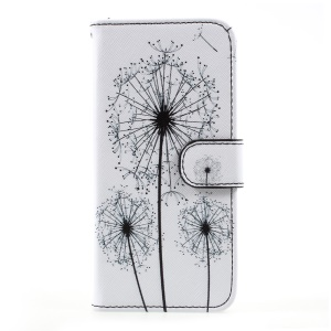Patterned Wallet Leather Mobile Phone Cover for Samsung Galaxy S8 - Dandelion