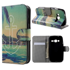 Patterned Wallet PU Leather Stand Flip Cell Phone Case for Samsung Galaxy J1 mini prime - Anchor Seaside View