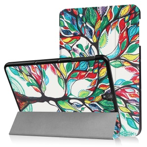 """Tri-fold Flip Stand Leather Case for Samsung Galaxy Tab S3 9.7"""" T820 - Colored Tree Painting"""