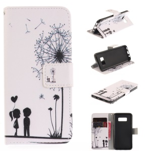 Wallet Leather Stand Case for Samsung Galaxy S8 - Dandelion and Lovers