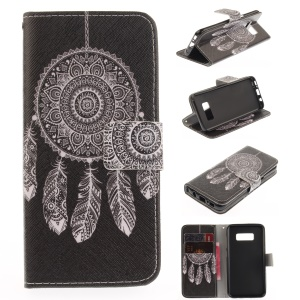 Leather Stand Case with Card Slots for Samsung Galaxy S8 - Dream Catcher