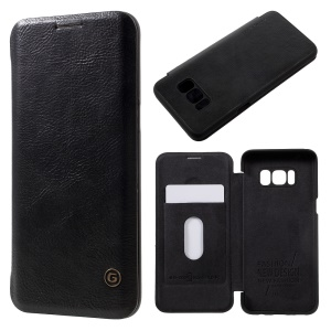 G-CASE Business Series Card Slot Flip Leather Case for Samsung Galaxy S8 G950 - Black