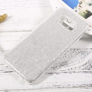 Glittery Paper TPU + PC Hybrid Phone Case for Samsung Galaxy S8 - Silver