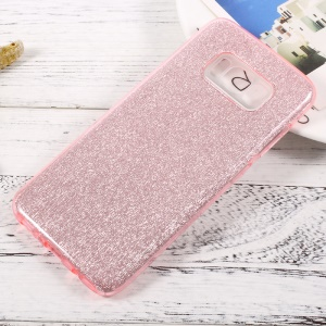 Glittery Paper TPU + PC Hybrid Back Cover for Samsung Galaxy S8 - Pink