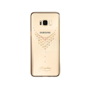 KINGXBAR for Samsung Galaxy S8 G950 Star Series Crystals PC Plated Hard Case - Gold / Star of the Sky