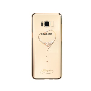 KINGXBAR Star Series Diamond Plated PC Cover for Samsung Galaxy S8 G950 - Gold / The Wish of the Stars