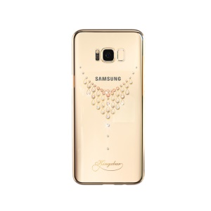 KINGXBAR for Samsung Galaxy S8 + G955 Star Series Crystals PC Plated Back Cover - Gold / Star of the Sky