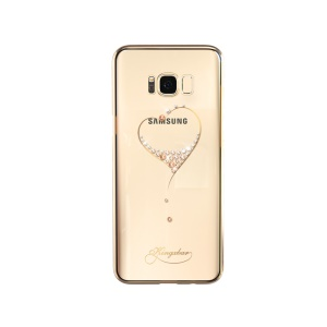 KINGXBAR Star Series Diamond Plated PC Case for Samsung Galaxy S8 Plus G955 - Gold / The Wish of the Stars