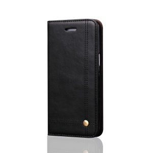 Vintage Crazy Horse Leather Wallet Case for Samsung Galaxy S8 - Black