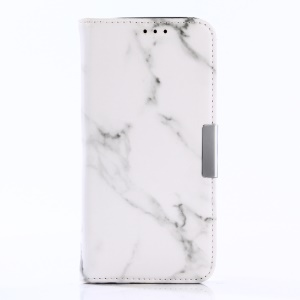 Marble Pattern Stand Leather Wallet Cover Case for Samsung Galaxy S8 G950 - White