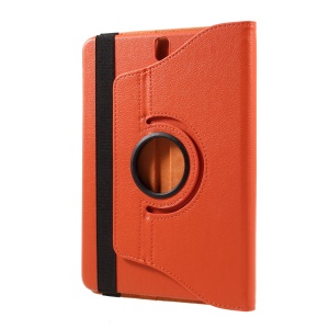 "Litchi Texture Rotary Leather Case with Stand for Samsung Galaxy Tab S3 9.7"" T820 - Orange"