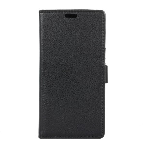 Lychee Skin Wallet Leather Stand Case for Samsung Galaxy S8 Plus - Black