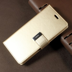 MERCURY GOOSPERY Rich Diary Leather Case Accessory for Samsung Galaxy S8 G950 - Gold