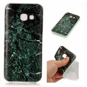 For Samsung Galaxy A3 (2017) IMD Marble Texture TPU Cellphone Cover - Style K