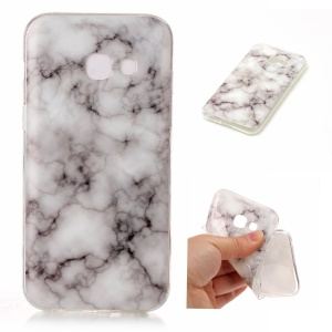 For Samsung Galaxy A5 (2017) IMD Marble Texture TPU Flexible Case - Style J