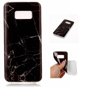 IMD Marble Pattern Soft TPU Gel Cover for Samsung Galaxy S8 G950 - Style D