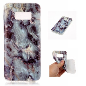 IMD Marble Pattern Flexible TPU Mobile Phone Cover for Samsung Galaxy S8 G950 - Style E