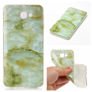 Marble Pattern Phone Case Soft IMD TPU Shell for Samsung Galaxy J5 Prime/On5 2016 - Light Green