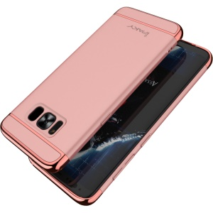 IPAKY 3-in-1 Electroplated PC Mobile Case for Samsung Galaxy S8 Plus G955 - Rose Gold
