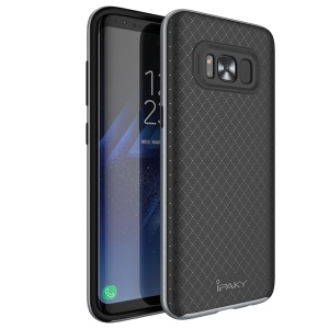 IPAKY 2-Piece PC Bumper + TPU Hybrid Shell Cover for Samsung Galaxy S8 G950 - Grey