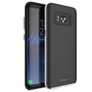 IPAKY 2-in-1 PC Frame + TPU Hybrid Case for Samsung Galaxy S8 Plus G955 - Silver