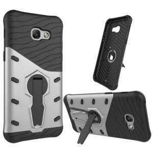Armor PC + TPU Case with Rotary Kickstand for Samsung Galaxy A5 (2017) SM-A520F - Silver