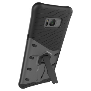 Armor PC + TPU Combo Mobile Phone Case with Kickstand for Samsung Galaxy S8+ SM-G955 - Grey