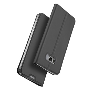DUX DUCIS Skin Pro Series for Samsung Galaxy S8 Plus G955 Leather Card Holder Mobile Case - Dark Grey