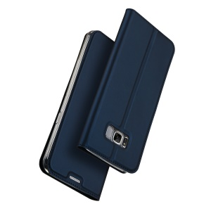 DUX DUCIS Skin Pro Series for Samsung Galaxy S8+ G955 Business Leather Smartphone Case - Dark Blue