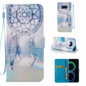 Pattern Printing Leather Wallet Case Accessory for Samsung Galaxy S8 Plus G955 - Dream Catcher