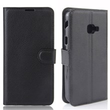 Litchi Skin Wallet Leather Stand Case for Samsung Galaxy Xcover 4 G390F - Black