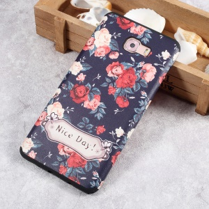 Soft TPU Embossment Protective Phone Cover for Samsung Galaxy C9 Pro - Nice Day