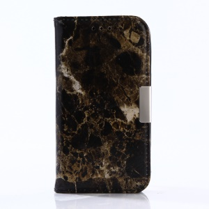 Marble Pattern Wallet Stand Leather Cell Phone Case for Samsung Galaxy J1 mini prime - Black