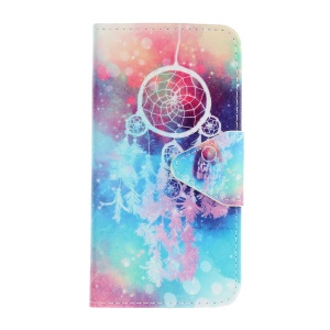 Pattern Printing Wallet Leather Stand Case for Samsung Galaxy S7 SM-G930 - Dream Catcher
