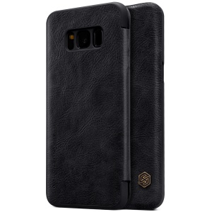 NILLKIN Qin Series for Samsung Galaxy S8 G950 Leather Case with Card Slot - Black