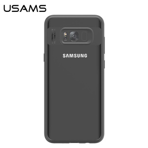 Custodia per cellulare Samsung Galaxy S8 Plus G955 (Clear PC + Soft TPU) - Nero