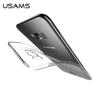 USAMS Série de couleurs primaires Clear Soft TPU Case pour Samsung Galaxy S8 Plus G955 - Transparent