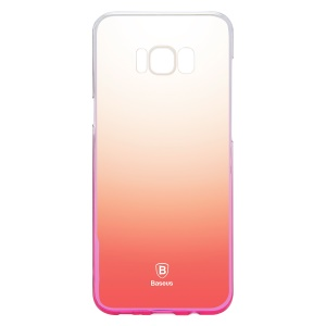 BASEUS Glaze Gradual Color Changing PC Phone Cover for Samsung Galaxy S8 Plus G955 - Pink