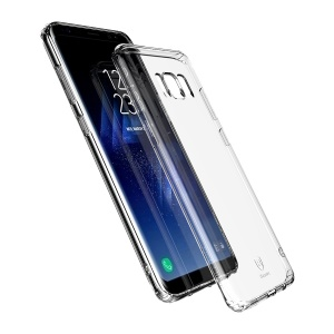 BASEUS Simple Series Clear Germany Bayer TPU Case for Samsung Galaxy S8 Plus G955 - Transparent