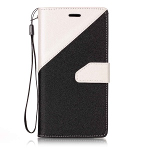 Assorted Color Foldable Sand-like Grain Leather Wallet Case Shell for Samsung Galaxy J3 Emerge/J3 Prime/J3 (2017)  - White