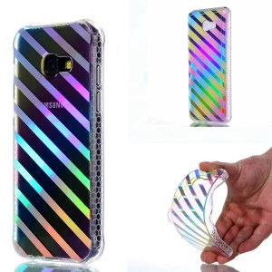 Colorful Electroplating IMD Soft TPU Cell Phone Shell for Samsung Galaxy A5 (2017) SM-A520F - Slanting