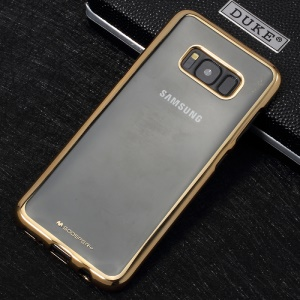 MERCURY GOOSPERY Ring 2 Case Electroplating TPU Mobile Shell for Samsung Galaxy S8 Plus G955 - Gold