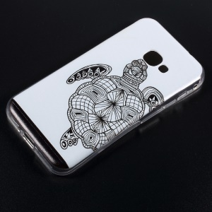 Embossed Pattern TPU Cell Phone Case for Samsung Galaxy Xcover 4 SM-G390F - Tortoise
